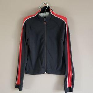 Lululemon Black/Red Stripe Zip Up Jacket 8